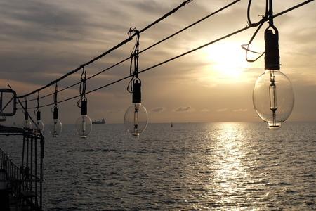 fishingboat: Sunset Stock Photo