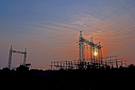 Power station, power supply systems, protection devices, control of the load current, voltage and current.Asia,thailand photo