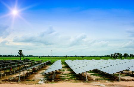 solar farm: Solar Farm Stock Photo