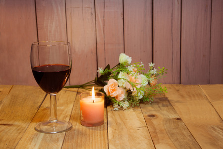 to confess love: Flower background happy candlelight wood flooring party Love Valentines Day cards.