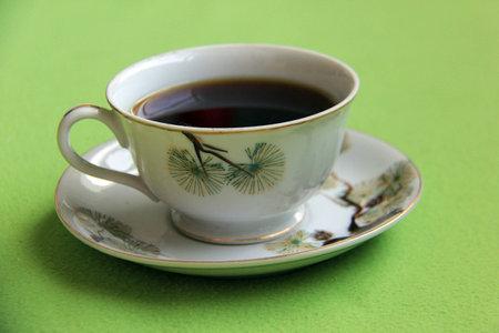 Brewed black coffee Stock Photo