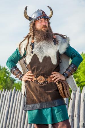 period costume: Viking in his territory