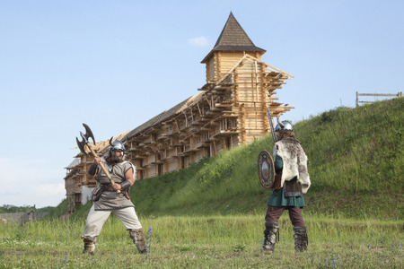 vikings: War between vikings Stock Photo