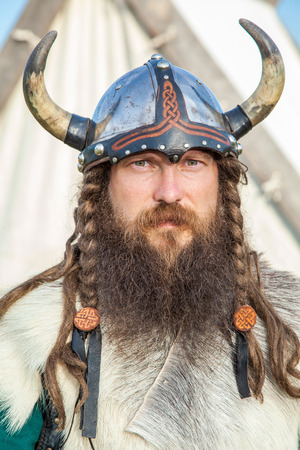 vikingo: Retrato de Vikingo Foto de archivo