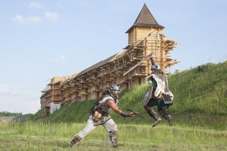 viking: War between vikings Stock Photo