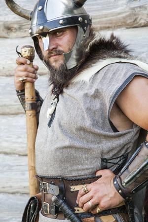 vikingo: El retrato del Vikingo con el hacha