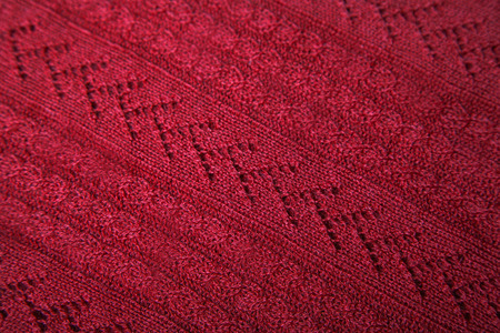 abstract decorative textured red textile