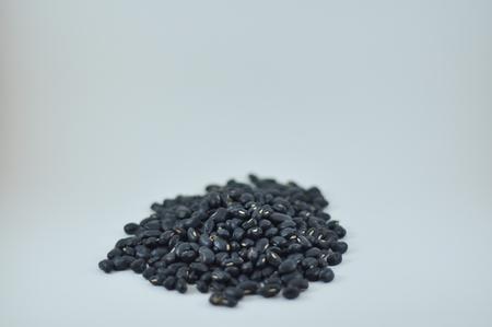 black: Black beans Stock Photo