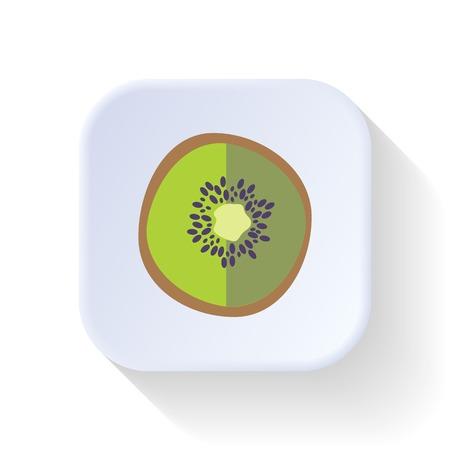 kiwi fruit: Kiwi fruta gr�fico ilustraci�n del arte del dise�o