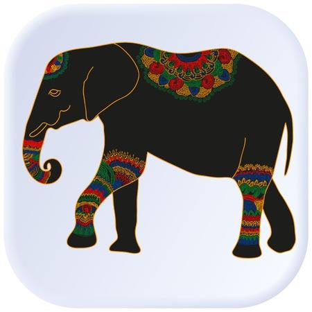 abundance: Multicolored elephant vector graphic illustration design art