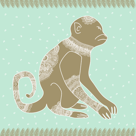 anima: Anima monkey tender vector graphic illustration design art