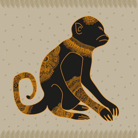 anima: Anima monkey cool vector graphic illustration design art Illustration