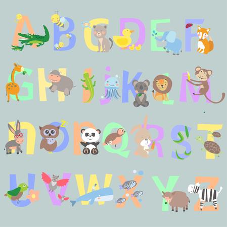 Alphabet anglais enfant vecteur graphique illustration design art