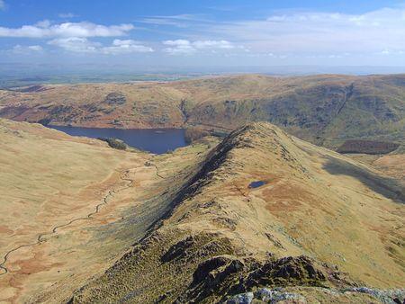 The Rigg, a mountain ridge on High Street in the English Lake District Stock Photo - 667462