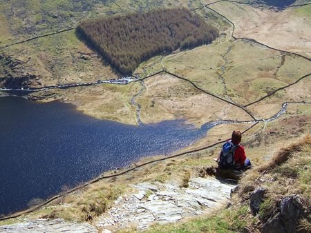 Looking down on Haweswater fron the Rigg Stock Photo - 667459