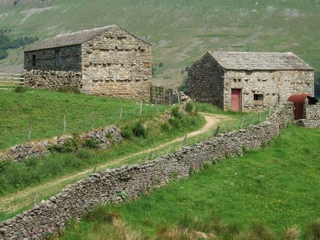 Two barns near Muker in the Yorkshire Dales