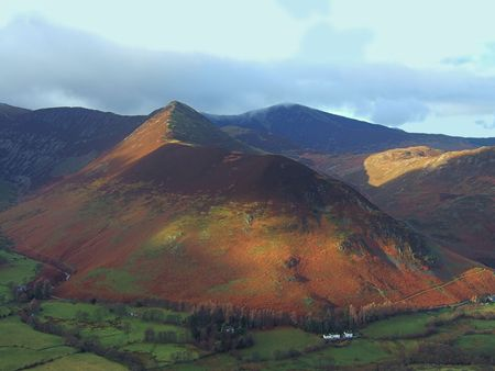 newlands: Causey Pike from the slops of Catbells, English Lake District