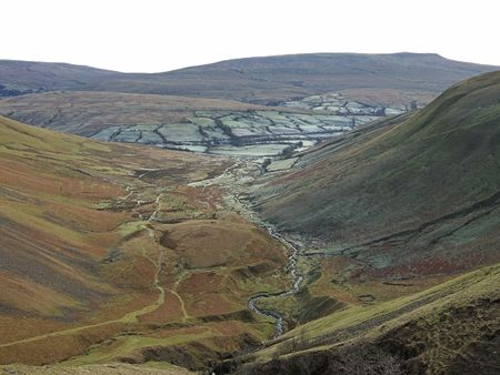 Glaciated valley in the Howgills photo