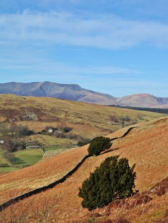 Blencathra from Gowbarrow Fell Stock Photo - 816810