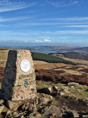 Trig point on Gowbarrow Fell Stock Photo - 816813