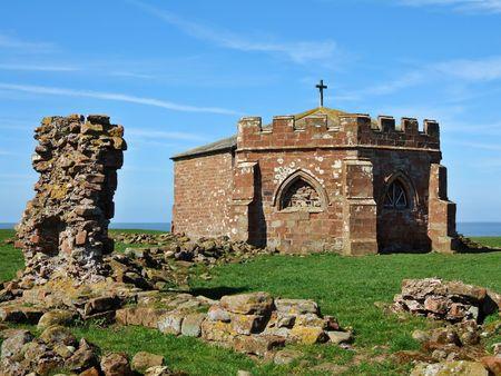 Pozostałości Cockersand Abbey na wybrzeżu Lancashire Zdjęcie Seryjne