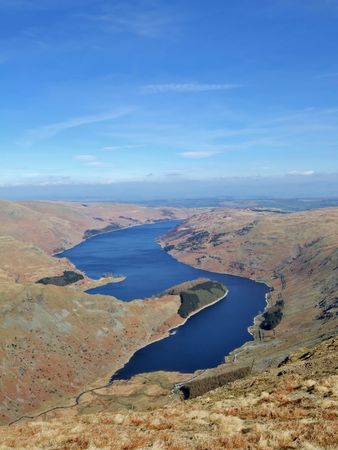 Haweswater and Mardale from Harter Fell Stock Photo
