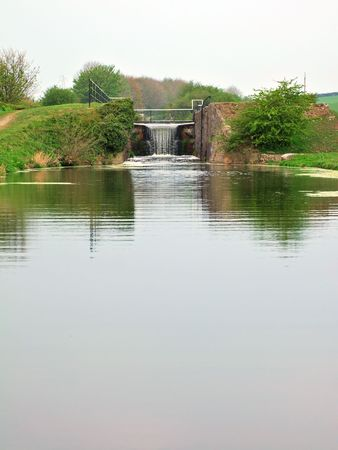 Lock on the Lancaster canal at Tewitfield