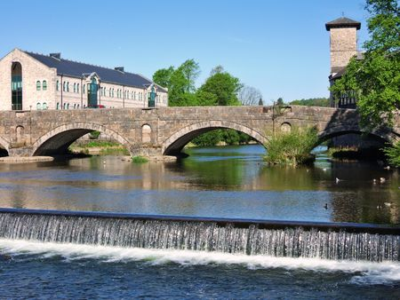 Stramongate bridge and weir, Kendal