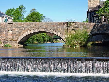 Stramongate bridge and weir, Kendal photo