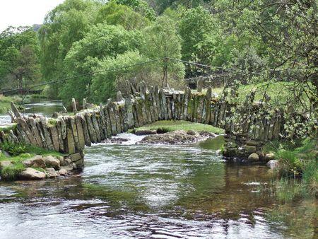 langdale: Packhorse bridge on river Brathay, Little Langdale