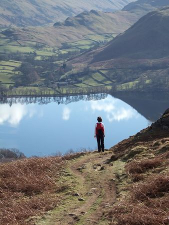 Looking down on Ullswater from Gowbarrow Fell