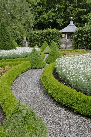 Garden of a large country house