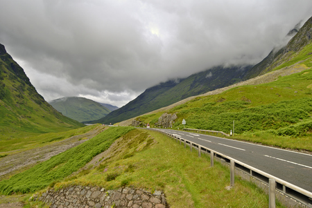 The A82 road at the pass of Glencoe, North West Scotland