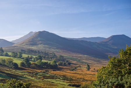 A view of Causey Pike in the English Lake District from Coledale. Landscape format