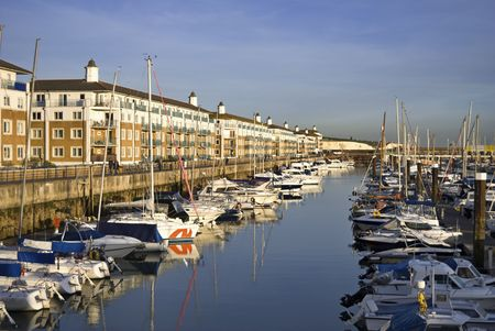Luxury apartments at Brighton Marina, East Sussex, UK Stock Photo - 2097958