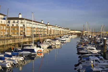 Luxury apartments at Brighton Marina, East Sussex, UK