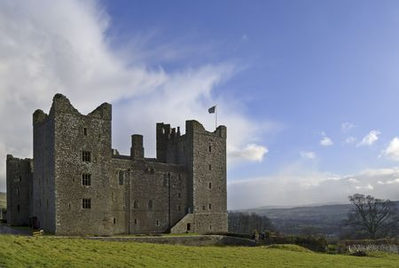 wensleydale: Medieval Bolton Castle in Wensleydale, Yorkire Dales, England Stock Photo