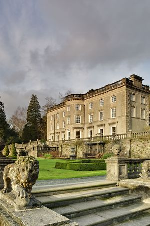 A Large Country house at Rydal in the English lake District, with a formal garden designed by Thomas Mawson