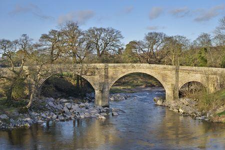 lonsdale: A view of Devils Bridge, a famous landmark on the river Lune near Kirkby Lonsdale, Cumbria, UK