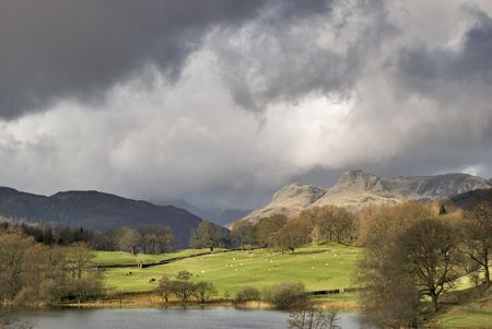 Stormy skies over the Langdale Pike in the English lake District Stock Photo - 2773559