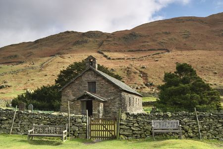 A view of Martindale Chapel in the English lake District Stock Photo - 2823218