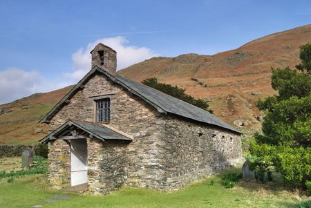 A view of Martindale Chapel in the English lake District Stock Photo - 2823214