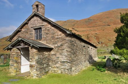 A view of Martindale Chapel in the English lake District Stock Photo - 2823231