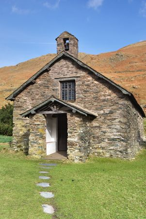 A view of Martindale Chapel in the English lake District Stock Photo - 2823213
