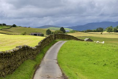 A country lane near Staveley in the English lake District Stock Photo - 2834784
