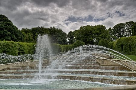 Part of a  feature at Alnwick Gardens, Northumberland, England