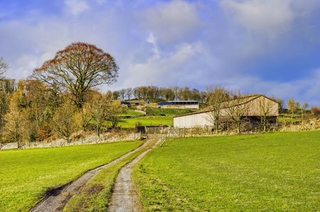 Scenic view of farm in English countryside. Stock Photo - 4535201