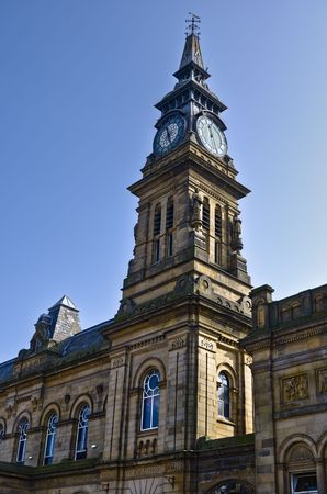 Low angle view of exter of Southport Arts Center building, Merseyside, England. Stock Photo - 4785730