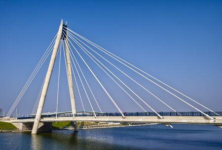 Marine Way Bridge in Southport. Liverpool, England.