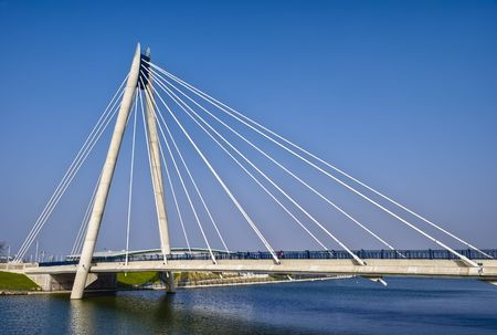 Marine Way Bridge in Southport. Liverpool, England. Stock Photo - 4785729